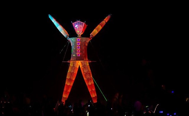 Burning Man Lit Up